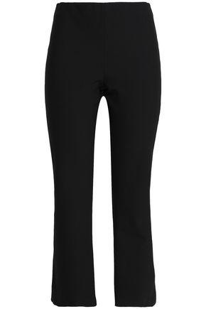 VINCE. Cropped crepe straight-leg pants