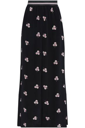 VILSHENKO Floral-print silk wide-leg pants