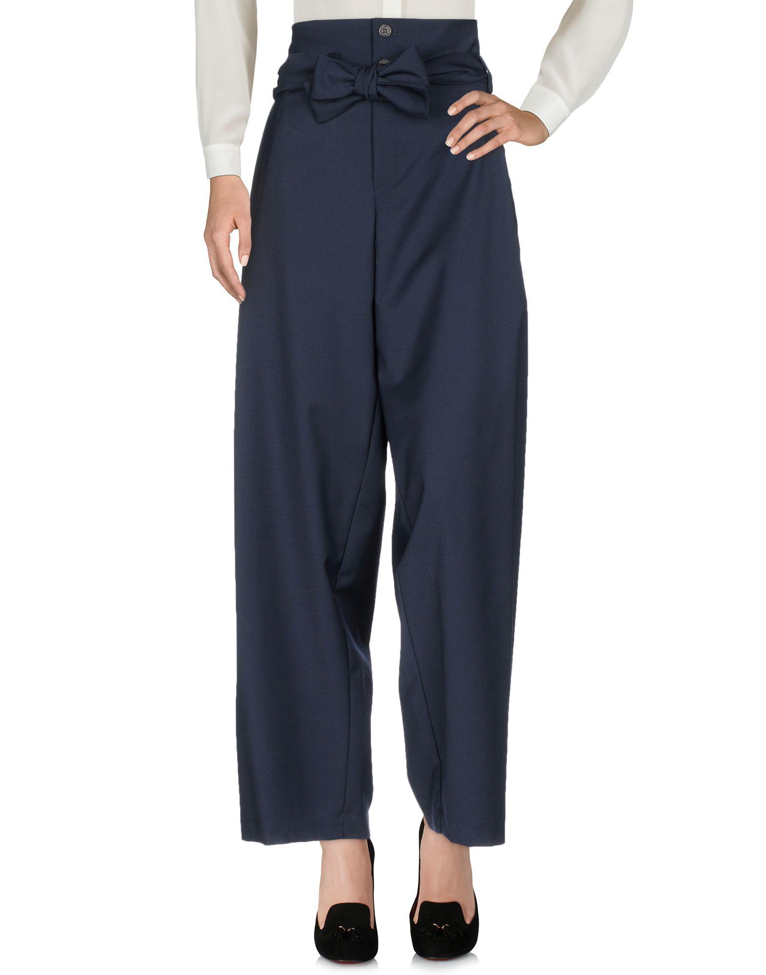 SEMICOUTURE Повседневные брюки брюки широкие из саржи стрейч
