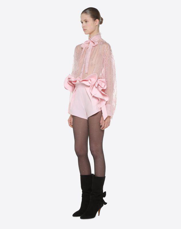 Shorts aus Crêpe Couture