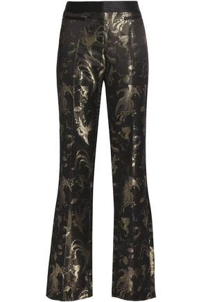 ROBERTO CAVALLI Metallic jacquard straight-leg pants