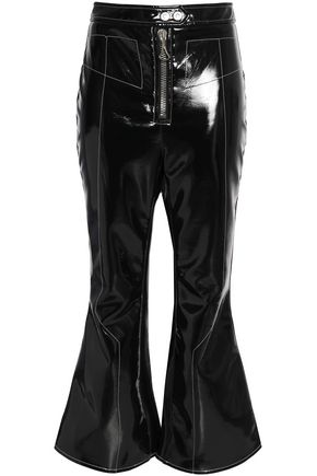 ELLERY Cropped vinyl flared pants