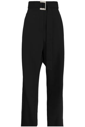 ELLERY Belted woven straight-leg pants