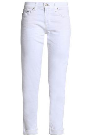 RAG & BONE/JEAN The Dre cropped mid-rise slim-leg jeans