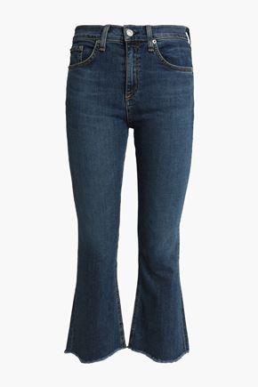 RAG & BONE/JEAN Distressed mid-rise kick-flare jeans