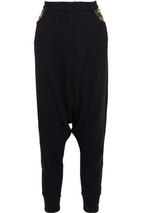 innovative design 4183e 88d69 Y-3 + adidas cotton-jersey harem pants ...