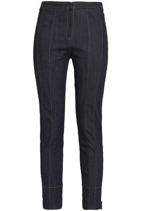 CINQ À SEPT Marielle cropped high-rise slim-leg jeans