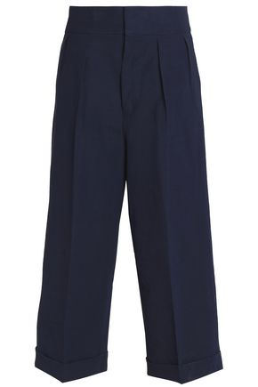 MARNI Pleated linen-blend culottes