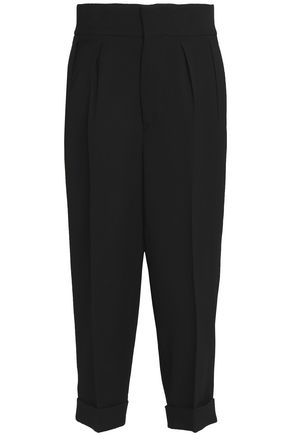 MARNI Pleated silk and wool-blend culottes