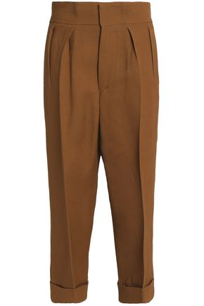 MARNI Silk and wool-blend wide-leg pants