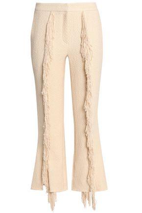 GOEN.J Fringe-trimmed cloqué bootcut pants