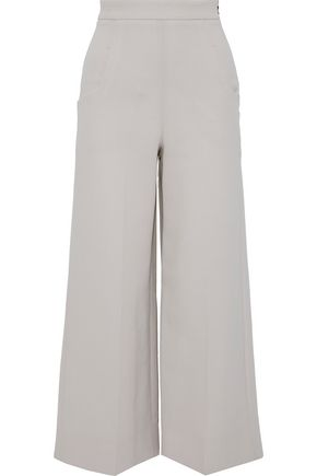 ROLAND MOURET Ward wool-crepe wide-leg pants