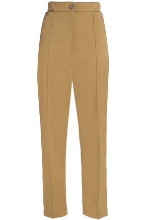 TEMPERLEY LONDON Cropped gabardine straight-leg pants
