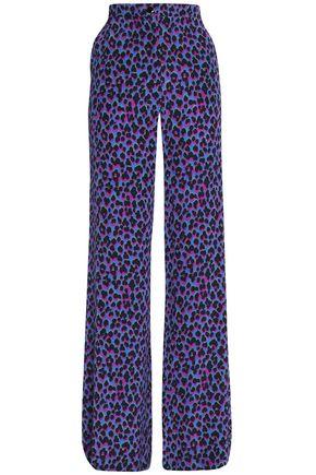 VANESSA SEWARD Leopard-print silk wide-leg pants