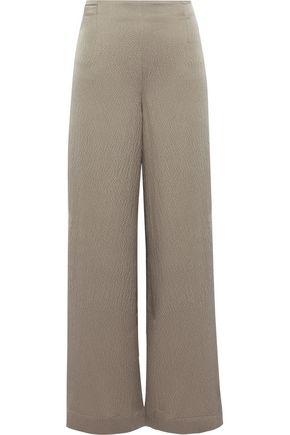 ROLAND MOURET Glover silk-satin cloqué culottes