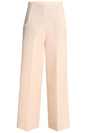 ROLAND MOURET Ward wool-crepe wide-leg pants