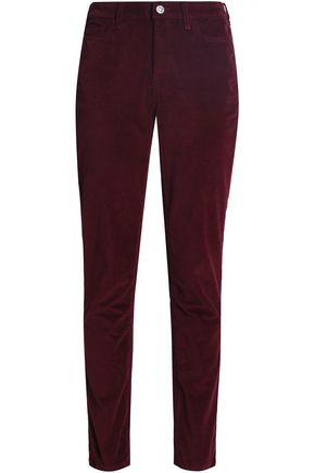 M.I.H JEANS Cotton-blend velvet slim-leg pants