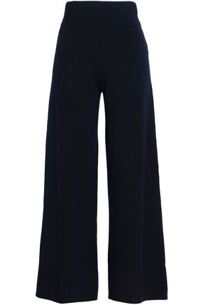 PRINGLE OF SCOTLAND Wool and cashmere-blend wide-leg pants