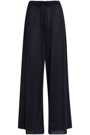 PRINGLE OF SCOTLAND Metallic knitted wide-leg pants