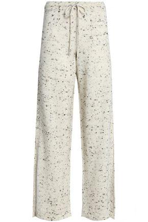 PRINGLE OF SCOTLAND Marled wool-blend wide-leg pants