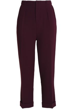 ROLAND MOURET Wool-crepe slim-leg pants
