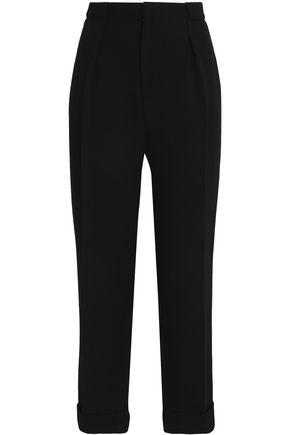 ROLAND MOURET Wool-twill slim-leg pants