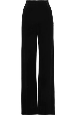 ROLAND MOURET Velvet wide-leg pants