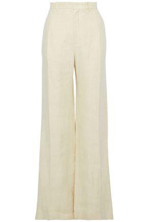 JOSEPH Linen-twill wide-leg pants