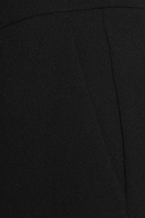 MICHAEL MICHAEL KORS Cropped lace-trimmed crepe wide-leg pants