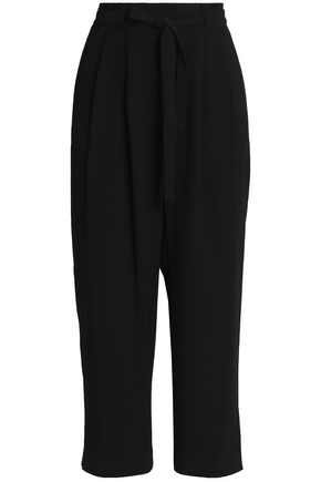MICHAEL MICHAEL KORS Cropped crepe straight-leg pants