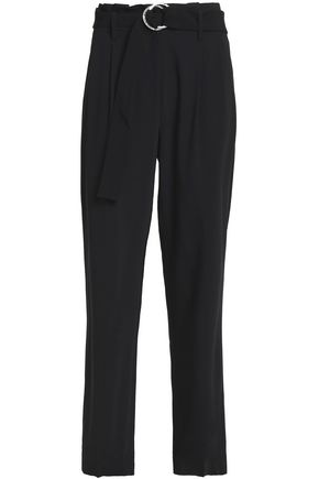 MICHAEL MICHAEL KORS Belted wool-blend straight-leg pants
