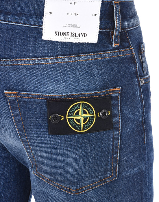 13186967cr - PANTS - 5 POCKETS STONE ISLAND