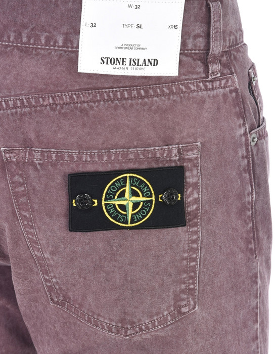 13186978jc - PANTS - 5 POCKETS STONE ISLAND