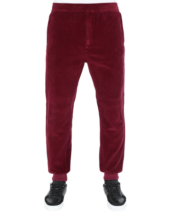 Fleece Pants 66339 CORDUROY STONE ISLAND - 0