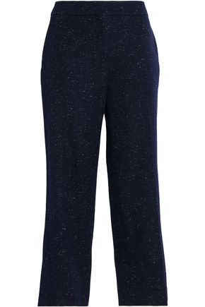 PRINGLE OF SCOTLAND Cropped donegal ponte slim-leg pants