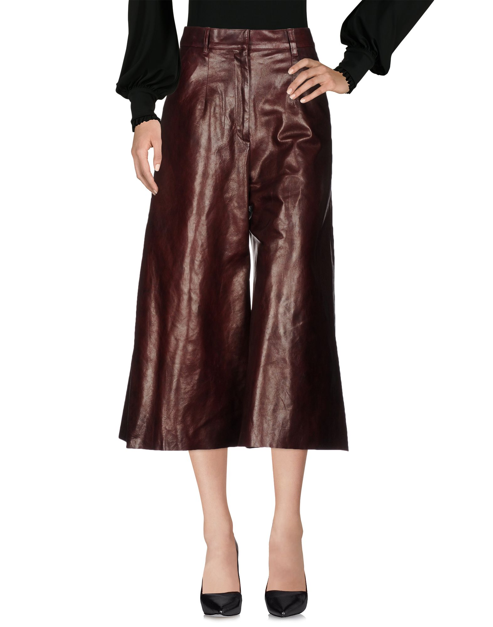 BY. BONNIE YOUNG Casual Pants in Maroon