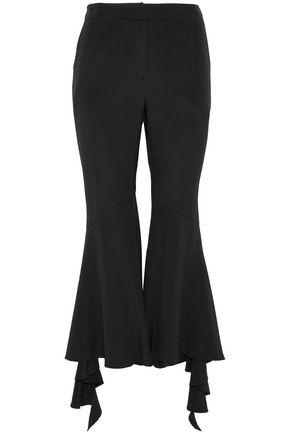 GOEN.J Ruffled silk-blend kick-flare pants