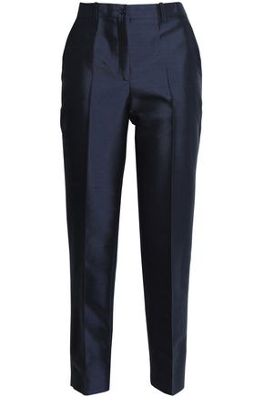 MICHAEL KORS COLLECTION Samantha wool and silk-blend shantung tapered pants
