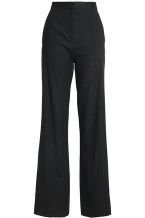 DIANE VON FURSTENBERG Linen-blend wide-leg pants
