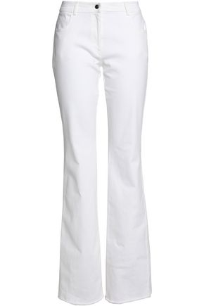 MICHAEL KORS COLLECTION Frayed mid-rise bootcut jeans