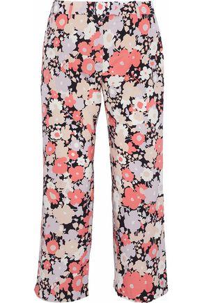 AGNONA Floral-print silk-blend crepe de chine culottes