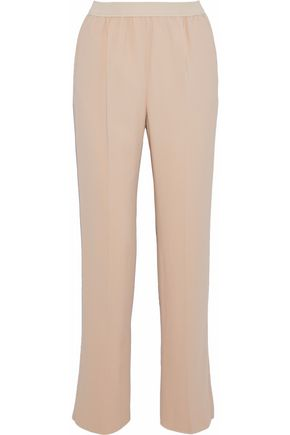 AGNONA Pleated crepe straight-leg pants