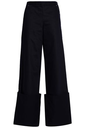CHALAYAN Cotton-twill wide-leg pants