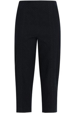 CHALAYAN Croppe cotton-jacquard slim-leg pants