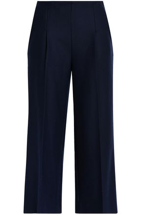 CHALAYAN Brushed wool-blend twill culottes