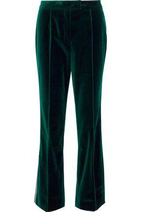 MARY KATRANTZOU Deosh cotton-velvet flared pants
