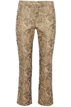 ALICE + OLIVIA Drew cropped cotton-blend brocade straight-leg pants