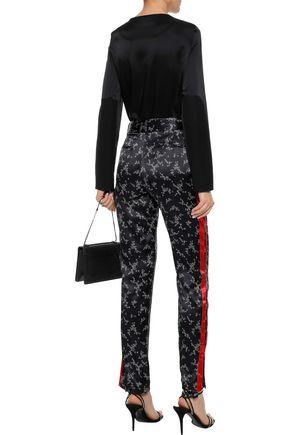 EQUIPMENT Printed silk-satin straight-leg pants