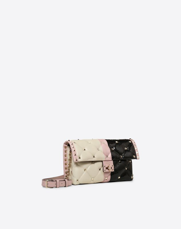 Striped Candystud Shoulder Bag