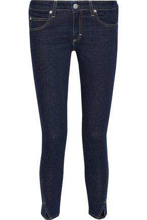 AMO Twist mid-rise slim-leg jeans